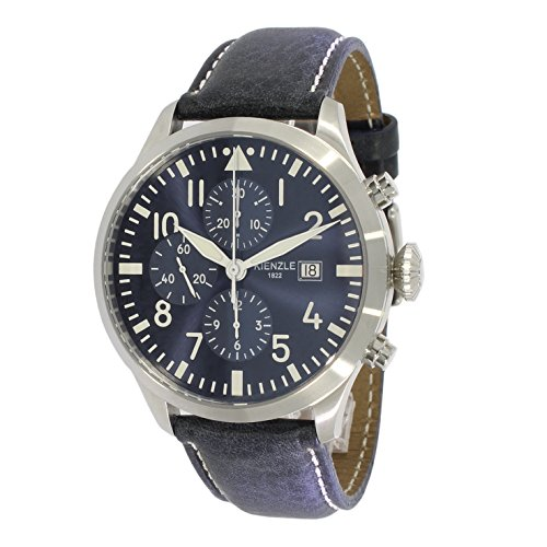 KIENZLE Uhr Chronograph ETA Analog mit Leder Armband K17-00322