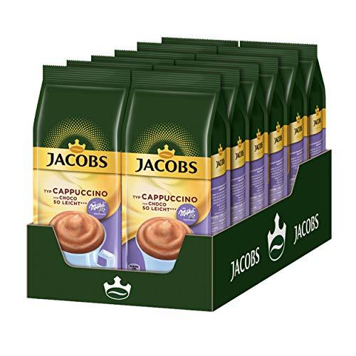 Jacobs Momente Choco Cappuccino so leicht, Mild mit Schokonote, kalorienarm, Nachfüllbeutel, 12 x 400g, 249569