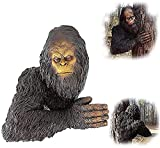 Yeti Estatua de árbol de dibujos animados caprichosa escultura orangután árbol Hugger decoración Bigfoot The Bashful Yeti Tree Estatua - Yeti Jardín Árbol Escultura Yeti Bigfoot Tree Estatua (grande)
