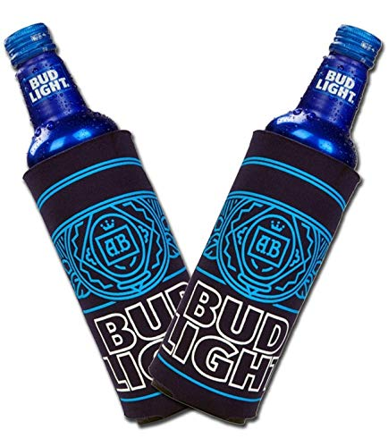 Bud Light Aluminum Bottle Cooler - Set of 2