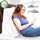 ENITYA Bed Wedge&Body Positioners Pillow-Folding Memory Foam Incline Cushion Support Your Head, Back and Legs, Acid Reflux, Anti Snoring, Respiratory Problems and Varicose Veins-Washable Cover