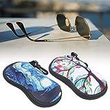 Wosune Bolsa portátil para anteojos, Estuches para Gafas de Neopreno con Bolsillo para Gafas para Gafas de Sol