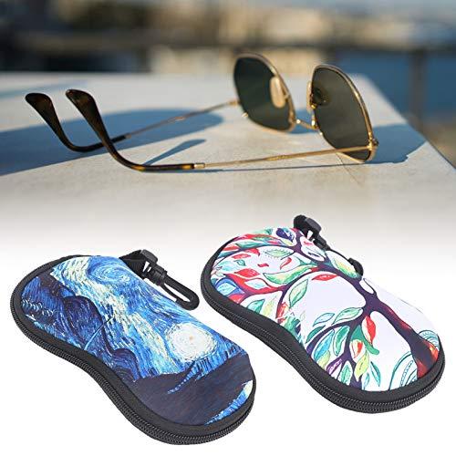 Qinyayoa Estuche para Gafas, práctico Organizador de Gafas de Sol, Material Suave y Liso portátil para Mujeres, Hombres, su Familia y Amigos