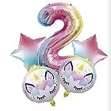 SMAQZ Ballon Anniversaire Licorne, Jeu de Ballon dégradé Ballon décoration Anniversaire.B
