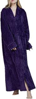 Unisex Coral Fleece Dressing Gown Lightweight Bath Robe for Spa Hotel Pool Sleepwear