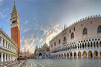 大人のためのダイヤモンド絵画キットヴェネツィアのサンマルコ広場5Dフルドリルクロスステッチ絵画キット家庭用、オフィス装飾 30x40cm