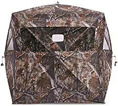 Guide Gear Silent Adrenaline Pop-Up Hunting Ground Blind for Deer, Duck, and Turkey Hunting, 2-Person Tent