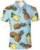 Goodstoworld Camicia Hawaiana da Uomo Camicie Estiva Fiori Tropicale 3D Stampa Manica Cort...