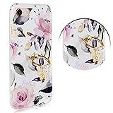 YUYIB iPhone6ケース iPhone6sケース リング付き かわいい 花柄 ストラップホール ソフトTPU i……