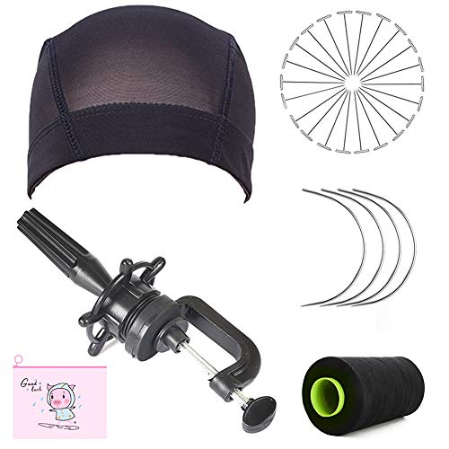 Wig Head Stand Wig Cap Wig t-pins 5 Sets of Tools Wig Making Starter Kit, DIY Wig Tool for Pro and Beginner