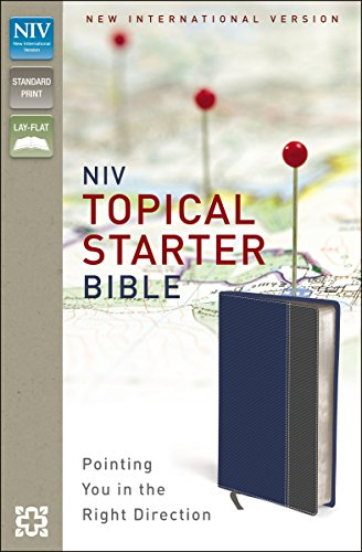 NIV, Topical Starter Bible, Leathersoft, Blue/Gray