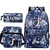 Travel TIK Tok Girls School Casual Daypacks Set Mochila Escolar para Estudiantes + Bolso pequeño + Bolso para bolígrafo Conjunto de Tres Piezas V-9