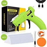 AONOKOY Cordless Hot 30W USB Rechargeable Anti-Drip Mini Melt Gun Kit with 30pcs Glue Sticks for DIY...