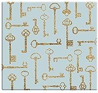 MCS MBI 13.5x12.5 Inch Golden Glitter Keys Scrapbook Album with 12x12 Inch Pages (860118) [並行輸入品]