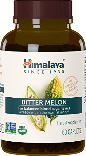 Himalaya Organic Bitter Melon / Karela for Balanced Blood Sugar Support, 660 mg, 60 Caplets, 1 Month Supply