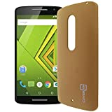 Droid Maxx 2 / Moto X Play Hard Case, CoverON [Slender Fit Series] Slim Matte Hard Polycarbonate Back Cover Phone Case for Motorola Droid Maxx 2 / Moto X Play - Gold