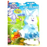 Funny Bunny Wind-up Jelly Bean Pooping Easter Bunny Candy Dispenser (Blue)