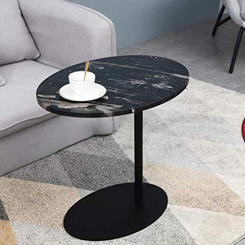 Bijzettafel JCOCO natuurlijke marmer koffie/thee, bank tafel voor kleine ruimte, hoekbank Hotels woonkamer ronde nachtkastje wit/zwart