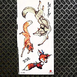 HXMAN 5 Unids 25 Patrón Tribal Geométrico Lobo Tatuaje Pegatinas Colorido Ciervo Alce Tigre Cuerpo Arte Dibujo Hombres Hombres Maquillaje Pasta Tatoo Pegatina GTL059