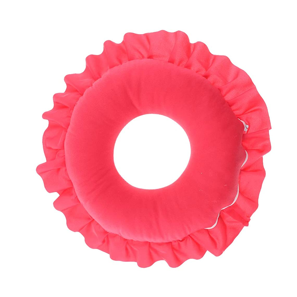 虚弱味派手マッサージ枕 顔枕 マッサージピロー 美容院 柔らかくて快適 取り外し可能 洗える 全4色 - 赤