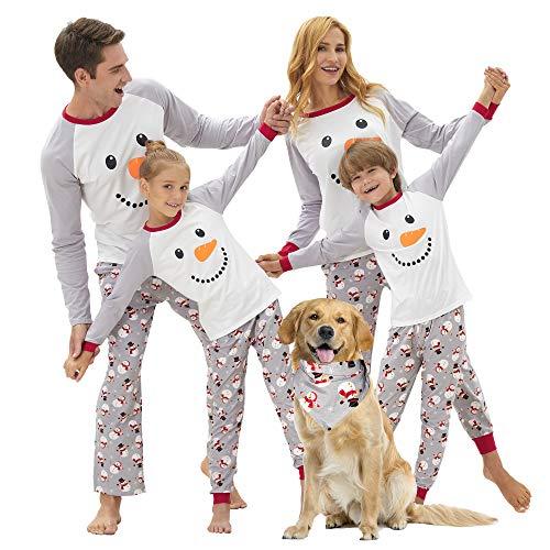 Family Christmas PJS Matching Sets Cotton Pajamas Snowman for Women Men Pet Doll, Boys & Girls Size 3T
