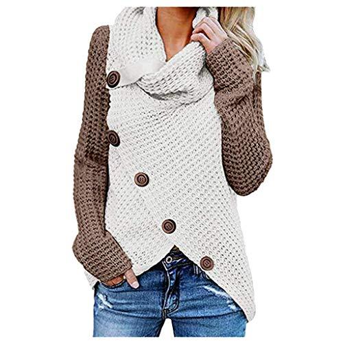 Fairy Costume Damen Winterjacke Warm Bequem Slim Strickjacke Rollkragen Cardigan Strickpullover Casual Wrap Wickel Pullover Sweater Herbst Winter S/M/L/XL/XXL
