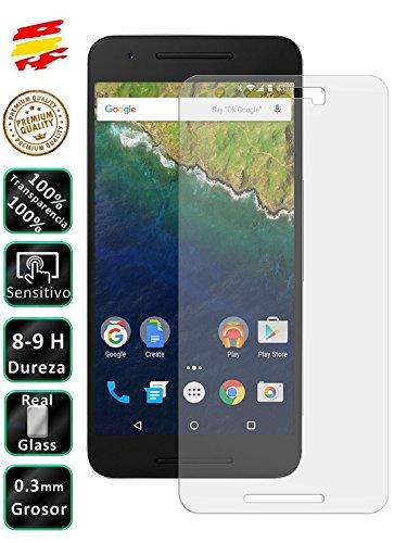Movilrey Protector para Huawei Google Nexus 6p Cristal Templado de Pantalla Vidrio 9H para movil