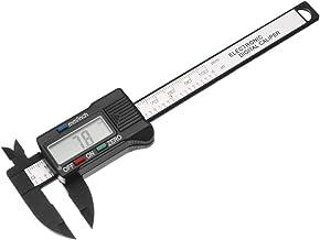 uxcell Digital Caliper 4 Inch 100mm Plastic Measuring Tool for Measurements Outside Inside Depth
