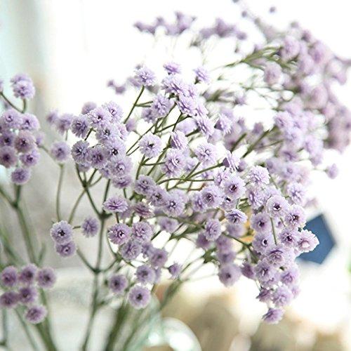 Xshuai® Bouquet de fleurs artificielles Gypsophiles artificielles en soie pour mariage, fête, anniversaire, Saint-Valentin, décoration d'intérieur (violet)