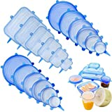 Leaf&cici Silicone Stretch Lids,18 Pack of Various Sizes to Fit Various Size and...