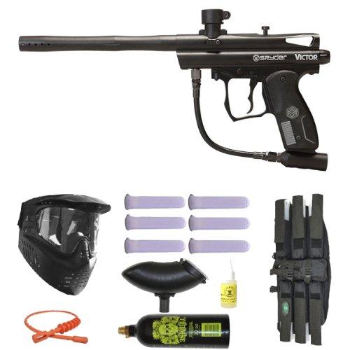 3Skull Spyder Victor Paintball Marker Gun Mega Set - Black