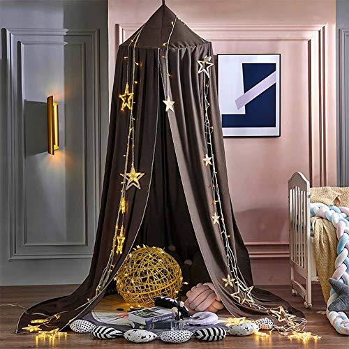 BAIHAO Dôme de lit à baldaquin pour Enfants Rideaux de lit occultants et Coupe-Vent moustiquaire décorative de Chevet pour Enfants pour Lire Jouer