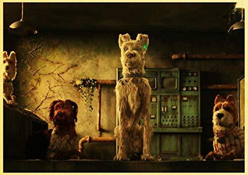 Jigsaws 1000 piezas para adultos niños Wes Anderson Movie Island of Dogs Strange T3 29.5 x 19.6 pulgadas (75 x 50 cm) rompecabezas de descompresión intelectual sin marco