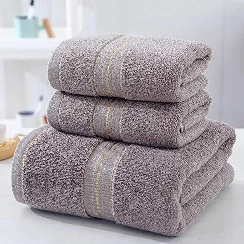 Xiaobing Juego de Toallas de baño de Tres Piezas para Adultos, Toalla de baño de Alta absorción, Toalla de Playa -marrón-1x70x140 1x34x74