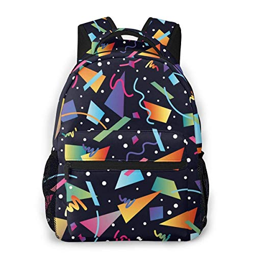 Lawenp Fashion Unisex Backpack Celebrate Colored Pattern Bookbag Lightweight Laptop Bag for School Travel Outdoor Camping