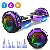 NEOMOTION Hoverboard Scooter da 6,5 Pollici con Bluetooth LED Flash Scooter Elettrico con Potente...