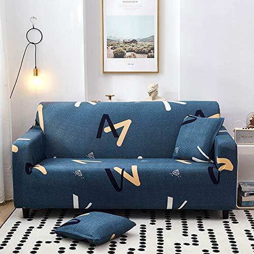 weichuang Funda protectora de sofá con impresión elástica para sofá, todo incluido, tela de poliéster antideslizante, funda de sofá (color: I, especificación: 1 juego de sofá de 90 a 140 cm)