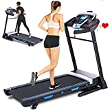 FUNMILY Treadmill, 3.25HP Folding Treadmill with Automatic Inclines and APP Control, Running Walking Jogging Machine for Home/Office/Gym Cardio Use