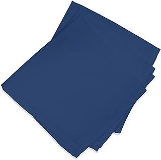 Soleil d'ocre 838240 ALIX Lot de 3 Serviettes de table Polyester Marine 40 x 40 cm