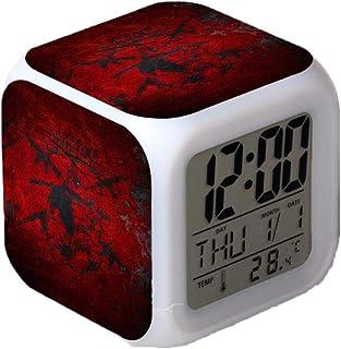 Horror Film Deadpool Alarm Clocks,Glowing LED Color Change Digital Alarm Clocks