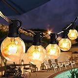 Lichterkette Außen Glühbirnen Aussen Innen 9.5M 25+3 Birnen Lichterkette G40 Warmweiß Halloween für Garten Terrass Weihnachten Hochzeit Balkon Pavillon Party