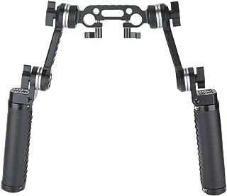 Niceyrig - Kit de Mango de Piel con Roseta estándar ARRI para cámara réflex Digital y Sistema de Soporte para Aparejos de Hombro