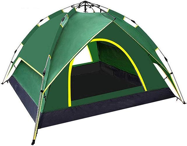 HHMGYH 3-4 Personne Camping Tente Double Couche étanche Pop up Ouvert Anti UV tentes de Tourisme pour la randonnée en Plein air Plage Voyage cravatenda,A