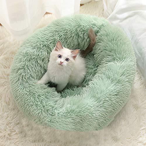 Ezoon wendbares Marshmallow-Kissen für den Winter, Höhle aus Kunstfell, Höhle für Kopf und Nacken, für kleine und mittelgroße Haustiere, warmes Kissen