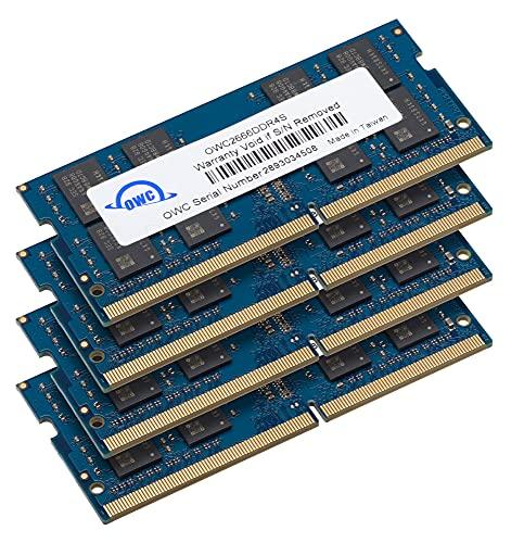 OWC 64GB (4 x 16 GB) 2666MHz PC4-21300 DDR4 SO-DIMM 260 pin Memoria di aggiornamento, (2666DDR4S64S), per il 2019 27 iMac (iMac19,1) e PC portatili