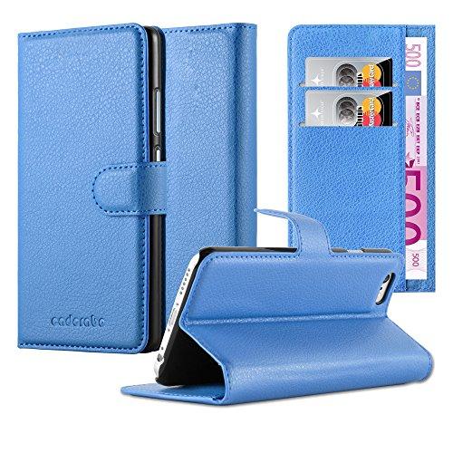 Cadorabo Funda Libro para Apple iPhone 6 / iPhone 6S en Azul Pastel – Cubierta Proteccíon con Cierre Magnético, Tarjetero y Función de Suporte – Etui Case Cover Carcasa