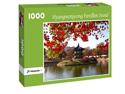 fotopuzzle.de Puzzle Hyangwonjeong Pavillon Seoul 1000 Teile inkl. Individueller Schachtelfarbe (grün)