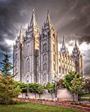 ONEAM ART 5D Diamond Painting Kit by Number Salt Lake Temple Full Drill Diamond Painting Kit Home Wall Decor(15.7x19.7 inch /40x50cm)