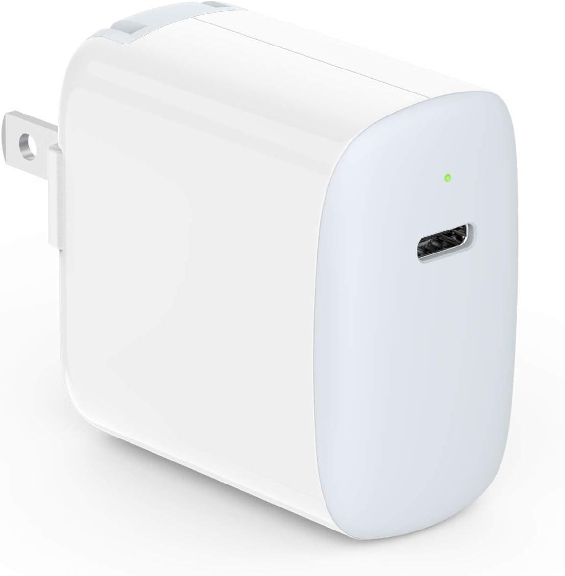 iPhone 12 Charger, 20W USB C Block for iPhone 12, 12 Pro, 12 Pro Max, 12 Mini, Magsafe Wireless Charger, 11, 11 Pro, SE, XR, XS, X, 8 Plus, iPad Pro 12.9, 11, iPad 8/7, iPad Air 4/3, LED, Foldable