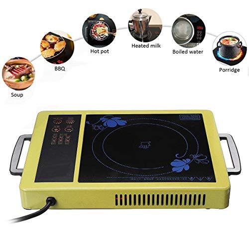 QWERTOUY 2000W Elektrisch magnetisch waterdicht keuken inductiefornuis vrijstaande kooktoestel oven hot pot met timer keramische plaat verwarming oven oven kookplaat